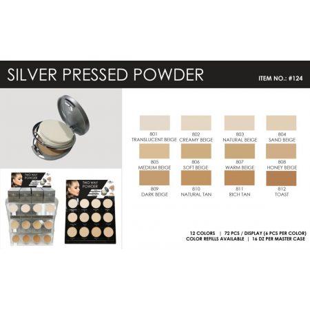 Italia Deluxe Silver Pressed Polvo Compacto 0124-802