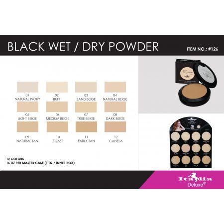 Italia Deluxe Black Wet/Dry Polvo Compacto 126-08