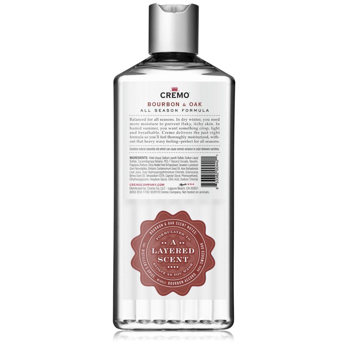 Body Wash 16oz. Cremo Bourbon & Oak 00442